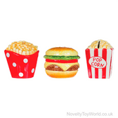 Fast Food Money Boxes - Chips, Burger, Popcorn